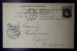 Cape Of Good Hope  Postcard P12  Capetown -> Erfurt Germany 1906 - Südafrika (...-1961)