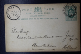 Cape Of Good Hope Postcard P17 Port Elizabeth - Amsterdam Private Print On Back - Südafrika (...-1961)