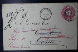 Cape Of Good Hope Cover  HG 5  Queenstown -> East London, And Returned To Sender - Südafrika (...-1961)