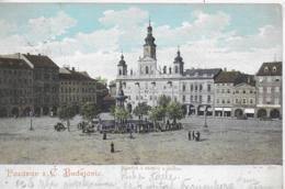 AK 0177  Pozdrav Z C. Budejovic - Námesti S Radnici A Postou Um 1904 - Tschechische Republik