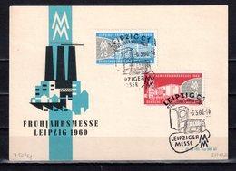 DDR 1960 Mi. 750-751 Leipziger Messe Auf Karte Gestempelt (p1070) - DDR