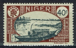 Niger, Le Fleuve Niger, 40c., 1926, MH VF - Niger (1921-1944)