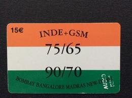 CARTE PRÉPAYÉE  INDE+GSM  *15€  Bombay Bangalore Madras New-Dehli  3080 - France