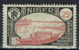 Niger, Le Fleuve Niger, 25c., 1926, MH VF - Niger (1921-1944)