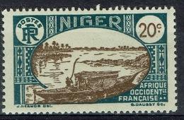 Niger, Le Fleuve Niger, 20c., 1926, MH VF - Niger (1921-1944)