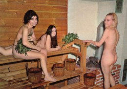 Women In Sauna In Finland, Suomi Bastu, C1970s Vintage Postcard - Finland