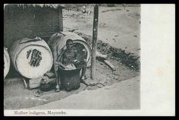 ANGOLA -MAYOMBE - COSTUMES - Mulher Indigena Mayombe.  Carte Postale - Angola