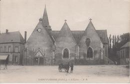 CPA Saint-Paterne - L'église (avec Petite Animation) - Frankreich