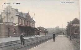 Wasmes , ( Colfontaine ) , La Gare ( Vue Intérieur Colorisée ) - Colfontaine