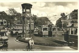 Real Photo Postcard POTSDAMER PLATZ - CENTRAL BERLIN - TRAMS - TROLLEY BUSES - TRANSPORT - Germany
