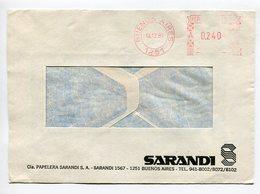 SARANDI., SOBRE COMERCIAL CON FRANQUEO MECANICO, ARGENTINA 1989 / COMERCIAL ENVELOPE - LILHU - Argentina