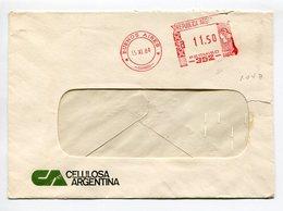 CELULOSA ARGENTINA, SOBRE COMERCIAL CON FRANQUEO MECANICO, ARGENTINA 1984 / COMERCIAL ENVELOPE - LILHU - Argentina