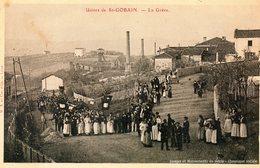 Image Cartonnée 21 X 13 Cms.Usines De St Gobain. La Gréve. - Documents Historiques
