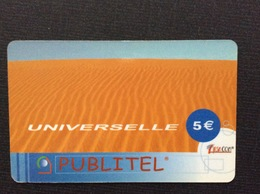 CARTE PRÉPAYÉE  PUBLITEL  *5€  Universelle   9240 - France