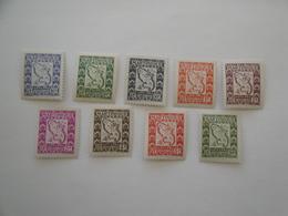 Martinique 1947 Yv T 27/36 ** MNH Carte Bateaux Ships Cote 11.15 € Michel T 27/36 Scott J 37/46 SG D 251/60 - Timbres-taxe