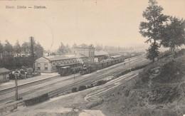 Diest : De Statie ;  Station , Gare Avec Train - Diest