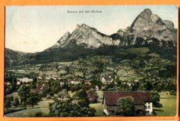 HA005, Schwyz Mit Den Mythen, 1158,édit. Synnberg, Circulée 1909 - SZ Schwyz