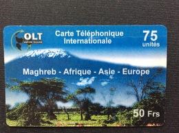 CARTE PRÉPAYÉE   OLT  *75 Unités 50 Frs  Maghreb Afrique Asie Europe  5225 - Autres Prépayées