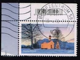 Bund 2017, Michel# 3344 O Weihnachtliche Kapelle Eckrand Mit EAN-Code - Gebraucht