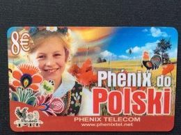 CARTE PRÉPAYÉE  PTI  PHÉNIX TELECOM  *8€  Polski  6370 - Autres Prépayées