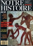 NOTRE HISTOIRE N ° 64 Dossier Sous Ramses II Hébreux Quittent Egypte , Kailash Tibet , Vestales , Chelles Pains Bathilde - Histoire