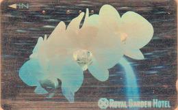 Télécarte ARGENT HOLO 3 D Japon / 110-011 - Fleur - ORCHIDEE - ORCHID Flower SILVER HOLOGRAM Phonecard - 2350 - Fleurs