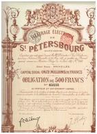 Titre Ancien - Eclairage Electrique St-Pétersbourg - Titre De 1911 N°65443 - Déco - Russie