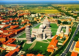 Pisa - Il Duomo E Sullo Sfondo Il Mare - Formato Grande Viaggiata – At1 - Cartoline