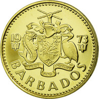 Monnaie, Barbados, 5 Cents, 1973, Franklin Mint, SUP+, Laiton, KM:11 - Barbades