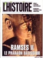 Revue L'HISTOIRE N° 167 / RAMSES II Pharaon Batisseur , Richelieu , STO Vichy Service De Allemagne , Sainte Pélag - Histoire