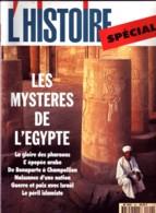 Revue L'HISTOIRE N° 190 / SPECIAL LES MYSTERE DE  EGYPTE - Histoire