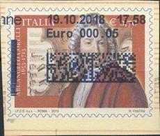 REPUBBLICA 2013 - ARCANGELO CORELLI - FRAMMENTO DI BUSTA POSTALE VIAGGIATA - 2011-...: Usati