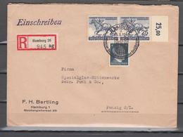 DR 1940,Mi 2x746 Mit Randstuck,783, Auf Brief Mit Einschreiben(D2680) - Deutschland