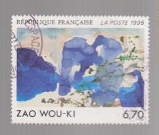 FRANCE 1995,  MI 3100, USED,  ZAO WOU-KI - Francia