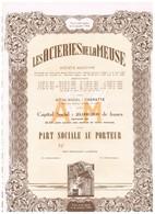 Titre Ancien - Uncirculed - Les Aciéries De La Meuse Société Anonyme - Titre De 1948 - - Industrie