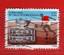 Italia ° - 2016 - COPPA DEVIS Di TENNIS. Unif. 3807.    USATO, Vedi Descrizione. - 2011-...: Usati