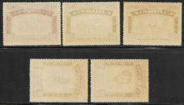 Ethiopia, Scott # 278-80,C21-2 Mint Hinged Selassie And Roosevelt, 1947, CV41.50 - Ethiopia