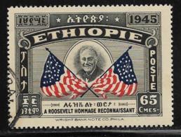 Ethiopia, Scott # 280 Used Selassie And Roosevelt, 1947 - Ethiopia