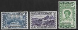 Ethiopia, Scott # 281-3 Mint Hinged Selassie , 1947, CV25.50 - Ethiopia