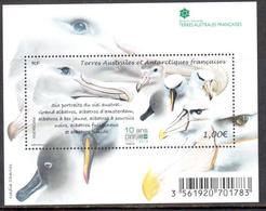 TAAF - 2017 - BF Les 6 Albatros Du Ciel Austral / 10e Ann Réserve Naturelle Des Terres Australes Françaises ** - Blocks & Sheetlets