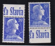 PUBLICITE: MARIANNE DE MULLER 20F BLEU LA SLAVIA HAUT ET BAS ACCP 1366* 1367** - Advertising