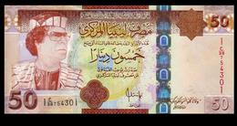 # # # Banknote Libyen (Libya) 50 Dinars Gaddhafi UNC # # # - Libyen