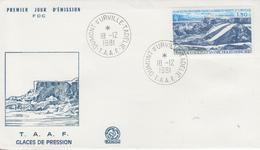 Enveloppe  FDC  1er  Jour   T.A.A.F   Glaces  De  Pression    1981 - FDC