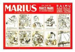 Dubout Pagnol Raimu Charpin Marius - Affiches Sur Carte