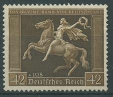 Deutsches Reich 1938 Galopprennen Braunes Band 671 Y Ohne Gummierung (R17279) - Ungebraucht