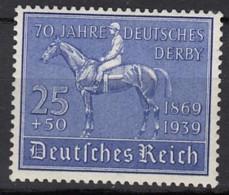 DR  698, Postfrisch **, 70 Jahre Deutsches Derby 1939 - Nuevos