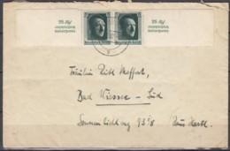 DR  2x Blockmarken 648, MeF, Auf Brief Mit Stempel: Wuppertal-Barmen 9.7.1937 - Blocks & Kleinbögen