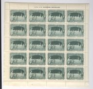 Exposition Internationale 1897 Bruxelles 3 Planches De 20 Timbres Vignettes Lith. Goossens Erinnophilie Sluitzegels - Timbres