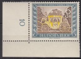 DR 828, Eckrand Ul, Postfrisch **, Tag Der Briefmarke, 1943 - Nuevos