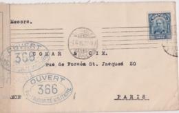 Lettre Brazil, Ouvert Par L'autorité Militaire 366, Controle Postal, Cachet SAO PAULO 1916 +London & Brazilian Bank - Lettres & Documents
